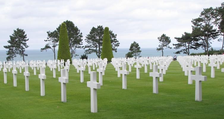 Colleville principal cimetière des plages du D-Day