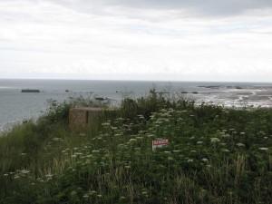 Une plage typique du débarquement en Normandie