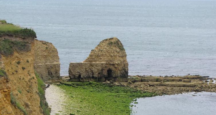 La pointe du Hoc et les îles Saint-Marcouf