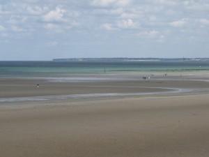 visite d'une plage du débarquement