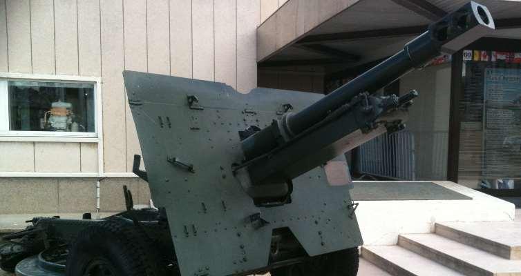 canon près du musée d'Arromanches
